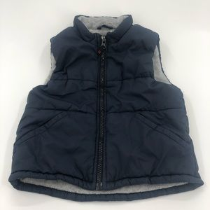 2 Years GAP Navy Lined Puffer Vest GUC